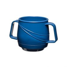 Modern Beverage Mug Double Handle - Blue