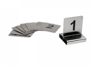 Stainless Steel Flat Table Numbers