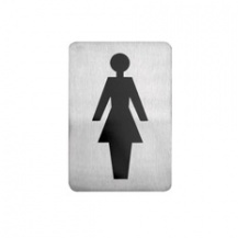 Female Symbol Stainless Steel Wall Sign 120 x 80mm