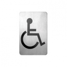 Disabled Symbol Stainless Steel Wall Sign 120 x 80mm