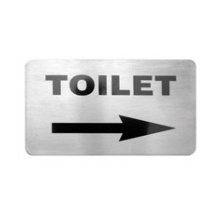 Toilet Right Arrow Wall Sign 120 x 80mm