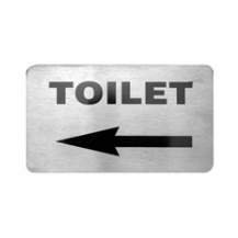 Toilet Left Arrow Wall Sign 120 x 80mm