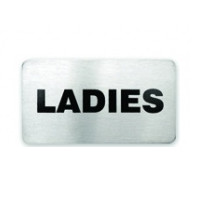Ladies Stainless Steel Wall Sign 110 x 60mm