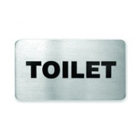 Toilet Stainless Steel Wall Sign 110 x 60mm