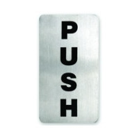 Push Stainless Steel Wall Sign 110X60Mm
