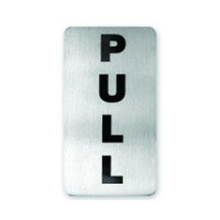 Pull Stainless Steel Wall Sign 110 x 60mm