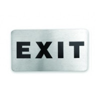 Exit Stainless Steel Wall Sign 110 x 60mm