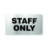 Staff Only Stainless Steel Wall Sign 110 x 60mm