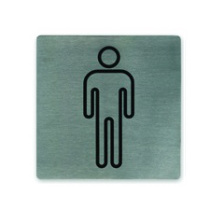 Male Symbol Stainless Steel Wall Sign 130 x 130mm