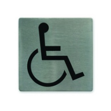 Disabled Symbol Stainless Steel Wall Sign 130 x 130mm