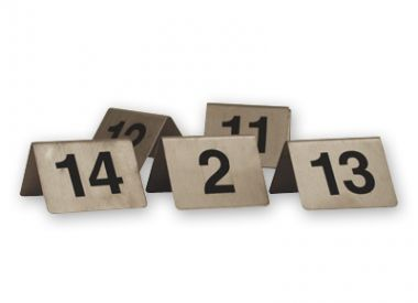 Stainless Steel A-Frame Table Numbers