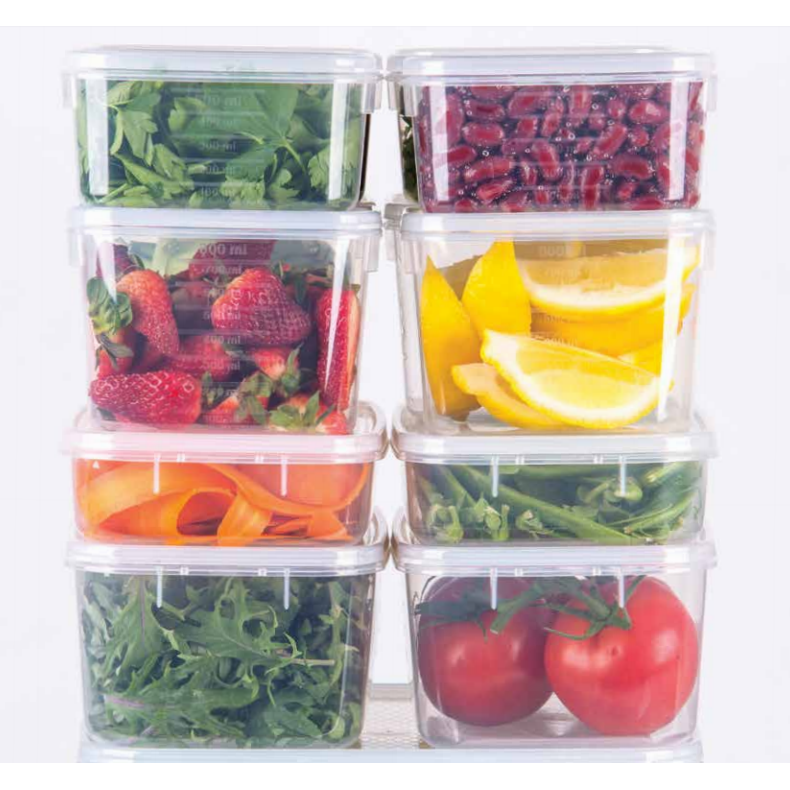 Decor TellFresh Stackable Storage Range Filled with Coloured Food