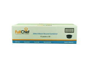 Full Chef 250ml Black Round Container