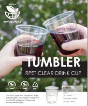 Recyled PET Clear Tumbler Cup