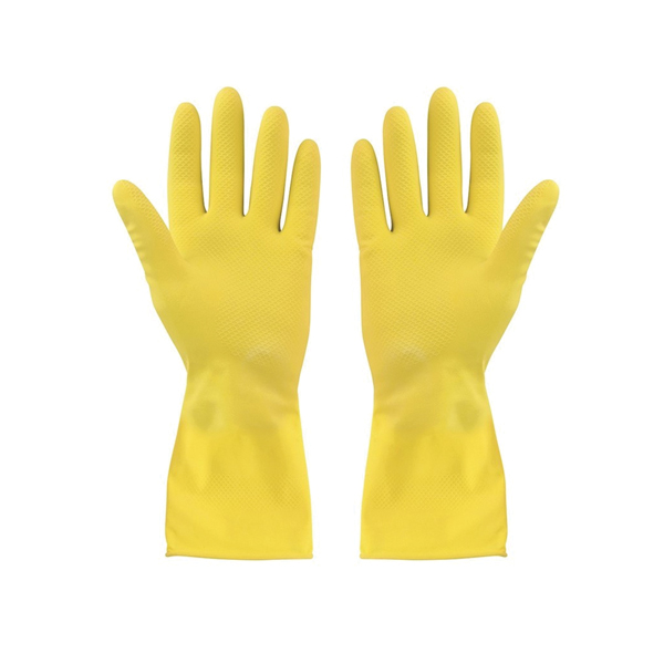 Yellow Flocklined Gloves Small