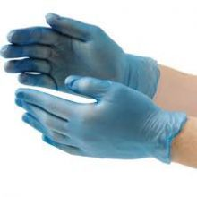 Food Service Vinyl Gloves Powder Free Small Clear
