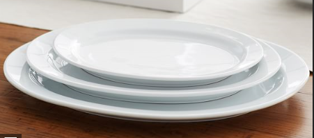 Oval White Plate
