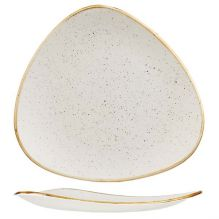 Stonecast Barley White Triangular Plate 192x192mm