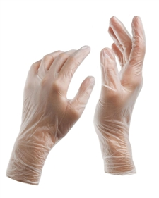Food Service Vinyl Glove Clear Small - Powdered