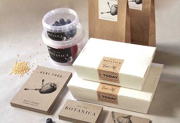 Recycled Paper Restaurant Branding Examples