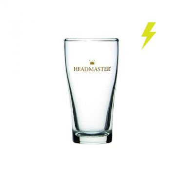 285ml Crowntuff Conical Headmaster Beer Glass - Image 1