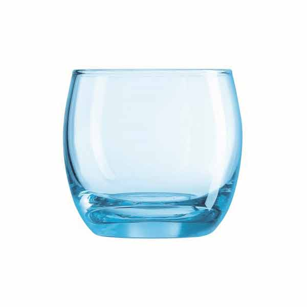 320ml Arcoroc Salto Ice Blue Old Fashioned Glass