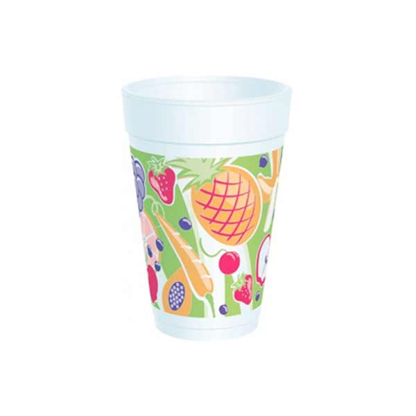 Insulated Foam Cup 12oz Fruitz Design