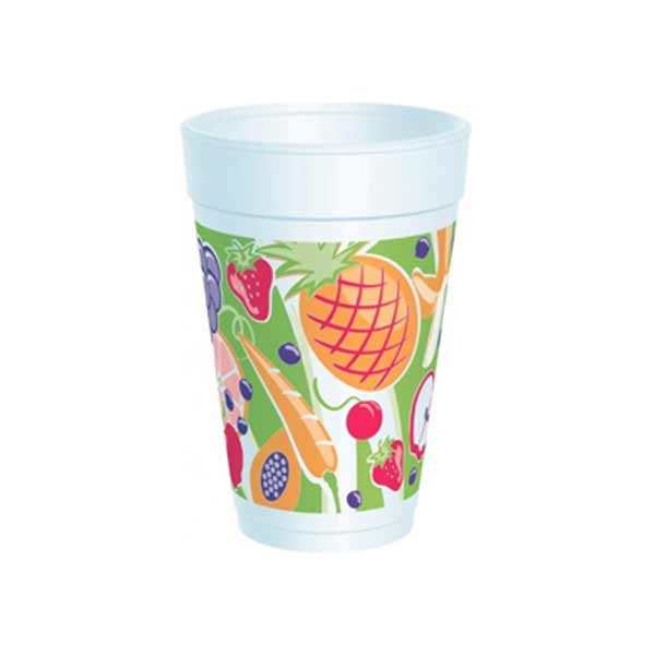 Insulated Foam Cup 16oz Fruitz Design