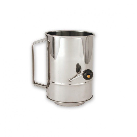 Flour Sifter Rotary Stainless Steel 8 Cup