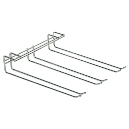 Glass Hanger Triple Row Chrome 270 x 220mm