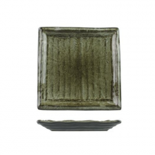 Uniq Green Square Ribbed Plate 185mm