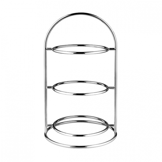Platter Stand 3 Tier Chrome Plated