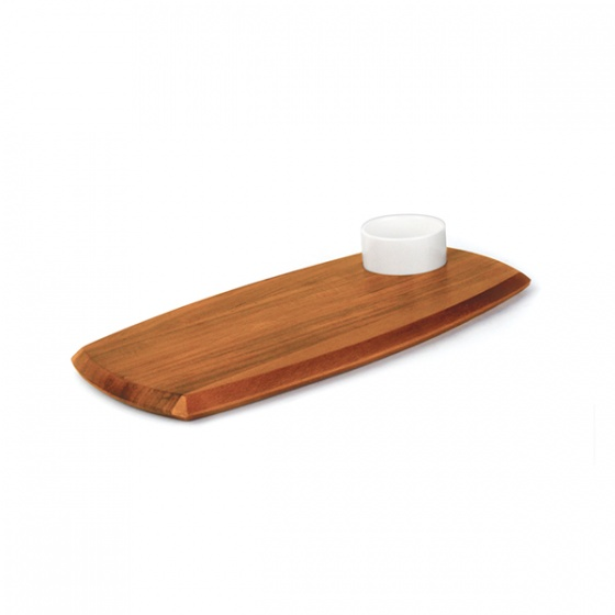 Athena Serving Board With Sauce Dish 180x362mm
