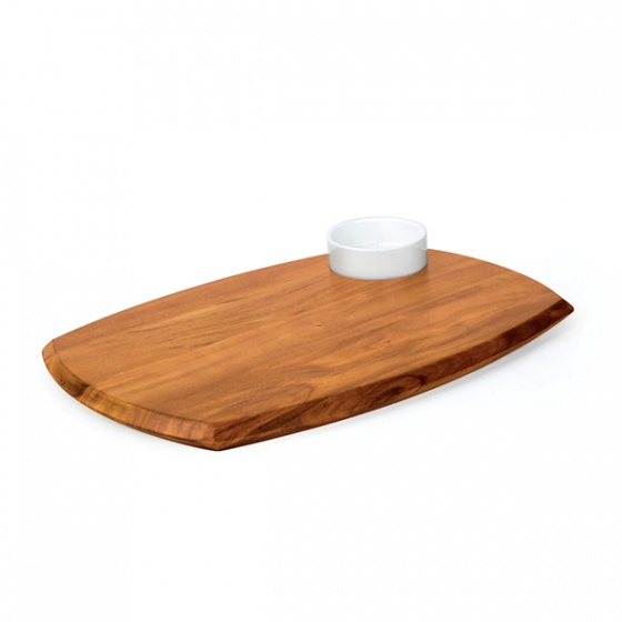 Athena Serving Board With Sauce Dish 255x362mm