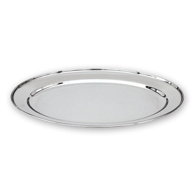 Oval Platter Stainless Steel 400mm