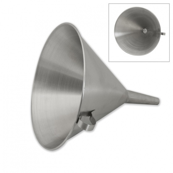Stainless Steel Funnel W/Strainer 120mm