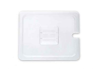 Polycarbonate Clear Food Pan Cover Notched