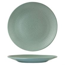 Zuma Mint Round Coupe Plate Ribbed 310mm