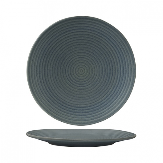 Zuma Denim Round Coupe Plate - Ribbed 265mm