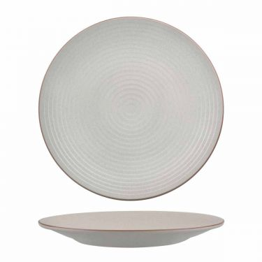 Zuma Mineral Round Coupe Plate Ribbed 310mm - Image 1