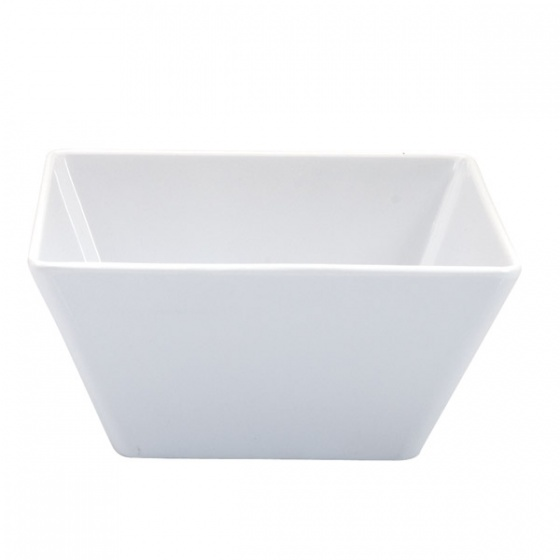 Ryner Melamine Square Bowl White Medium