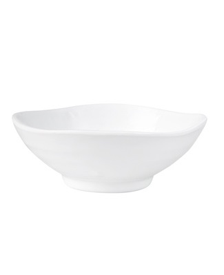 Ryner Melamine Round Wave Bowl White Medium