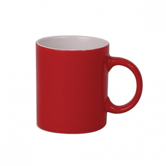 Basics Can Shape Mug Red 340ml  In White