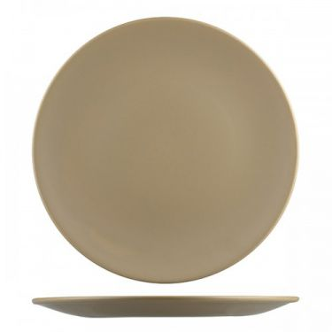 Natural Satin Brown Round Coupe Plate 325mm - Image 1