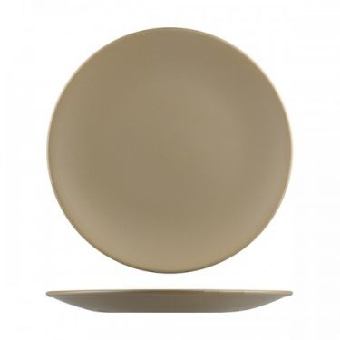 Natural Satin Brown Round Coupe Plate 290mm - Image 1