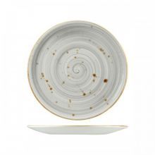 Wellington Round Coupe Plate Rustic Grey 275mm