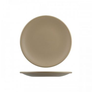 Natural Satin Brown Round Coupe Plate 230mm - Image 1