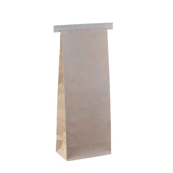 1Kg Coffee Bag Plain Brown Tin Tie