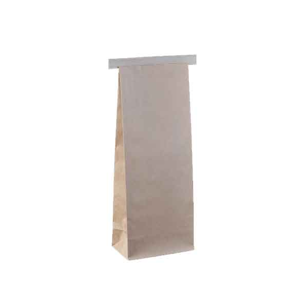 250g Coffee Bag Plain Brown Tin Tie
