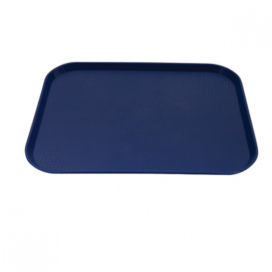 Blue Fast Food Tray Large